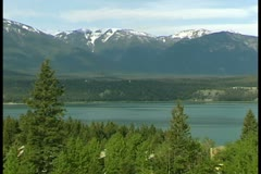 WorldClips-Invermere Lakeshore-pan Stock Footage