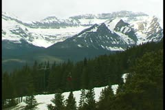 WorldClips-Lake Louise Gondola-ws Stock Footage