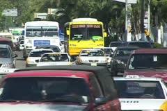 Acapulco city traffic - stock footage