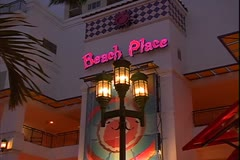 WorldClips-Beach Place Sign-zooms Stock Footage