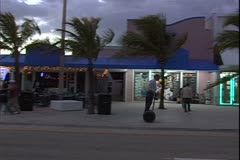 WorldClips-Beach Street Dusk Stock Footage
