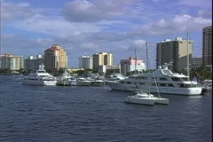 WorldClips-Canal Condos & Catamaran Stock Footage