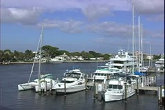 WorldClips-Canal Marina-pan Stock Footage