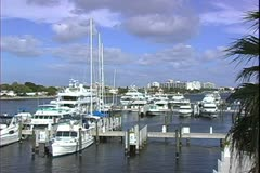 WorldClips-Canal Marina-pans Stock Footage