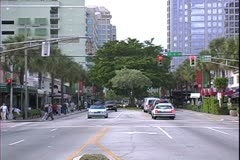 WorldClips-Las Olas Blvd. Traffic-zoom Stock Footage