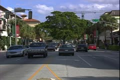 WorldClips-Las Olas Traffic-zoom Stock Footage