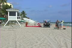 WorldClips-Life Guard House-ws Stock Footage