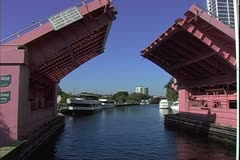 WorldClips-Riverfront Draw Bridge-POV Stock Footage
