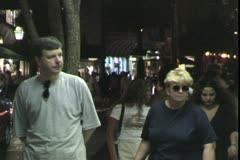 WorldClips-Duval Street People-Night Stock Footage