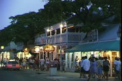 WorldClips-Duval Street-Night-zooms Stock Footage