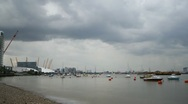 Time Lapse of Thames River at Greenwich, London Stock Footage