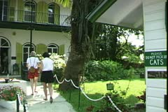 WorldClips-Hemingway House-pan Stock Footage