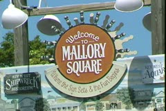 WorldClips-Mallory Square Sign Stock Footage