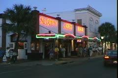 WorldClips-Sloppy Joe's Bar-Night Stock Footage