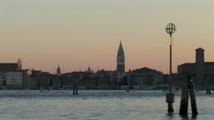 WorldClips-Approaching Venice at Dusk-POV Stock Footage