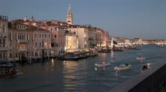 WorldClips-Grand Canal at Dusk-pan-zoom Stock Footage