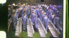 High School Students Graduation Day Ceremony 1960s Vintage Film Home Movie 1176 - stock footage