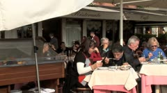 WorldClips-Grand Canal Cafe Diners Stock Footage