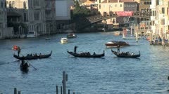 WorldClips-Grand Canal Water Traffic-ws-zoom Stock Footage