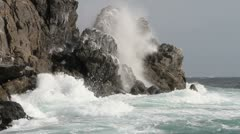 Waves on the rocks - stock footage