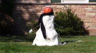 Stock Video Footage of pumpkin snowman