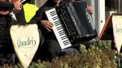 WorldClips-St.Marks Cafe Band-zooms Stock Footage