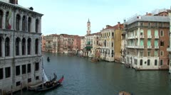 WorldClips-Upper Grand Canal Water Taxis-ws - stock footage