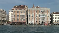 WorldClips-Venice Buildings-Water Taxi-Water Bus Stock Footage