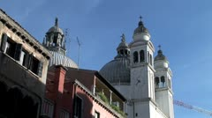 WorldClips-Venice Church Steeples Stock Footage