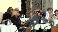 WorldClips-Venice Couple at Cafe Stock Footage