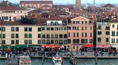 WorldClips-Venice Dawn-zoom-POV Stock Footage
