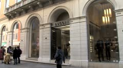 WorldClips-Venice Gucci-zooms Stock Footage