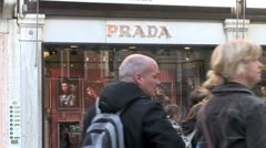 WorldClips-Venice Prada Store Stock Footage