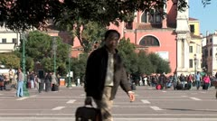 WorldClips-Venice Rail Terminus Plaza-xws Stock Footage