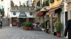 WorldClips-Venice Small Hotel and Cafe Stock Footage