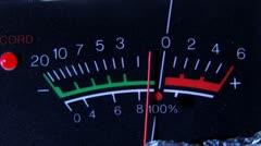 VU meter, closeup, pan left - stock footage