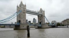 Tower Bridge Timelapse Stock Footage