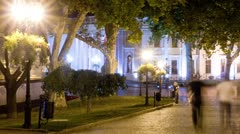 Street of the old-city at night Stock Footage