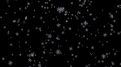 Snow 3 (Loop with transparency) - stock footage