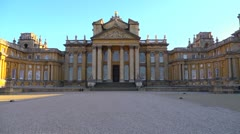 The grand frontage of Blenheim Palace in Woodstock, Looping Stock Footage