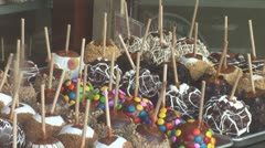 WorldClips-Candy Apples-zooms Stock Footage