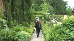 WorldClips-Garden Path-ws Stock Footage