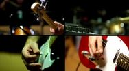 Guitar, Guitar Bass and Drums - Multiscreen Stock Footage