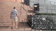 Mount Soledad Military memorial Stock Footage