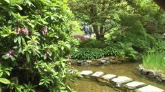 WorldClips-Stream Stone Steps People Stock Footage