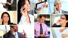 Montage of Successful Business People & Technology - stock footage