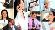 Montage of Successful Business People & Technology Stock Footage