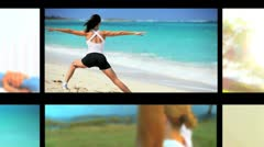 Montage of People Living a Fit & Healthy Lifestyle Stock Footage