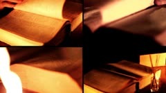 Old Book - Multiscreen Stock Footage