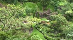 WorldClips-Sunken Garden Paths-xws Stock Footage